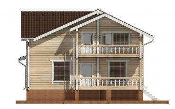 Фото #9: деревянный дом ПДБ-58 из клееного бруса купить за 10721000 (цена «Под ключ»)