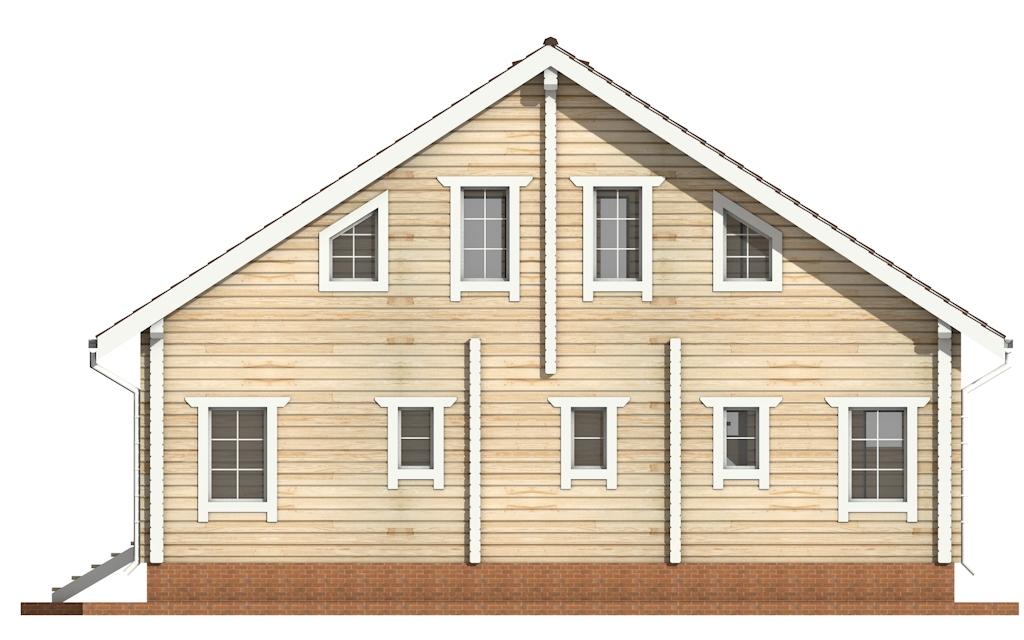 Фото #8: деревянный дом ПДБ-59 из клееного бруса купить за 10102000 (цена «Под ключ»)