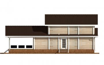 Фото #9: деревянный дом ПДБ-61 из клееного бруса купить за 10276000 (цена «Под ключ»)