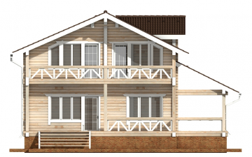 Фото #9: деревянный дом ПДБ-62 из клееного бруса купить за 10084000 (цена «Под ключ»)