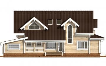 Фото #9: деревянный дом ПДБ-38 из клееного бруса купить за 15922000 (цена «Под ключ»)