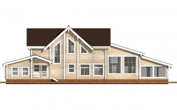 Фото #9: деревянный дом ПДБ-39 из клееного бруса купить за 15784000 (цена «Под ключ»)