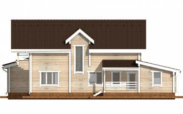 Фото #9: деревянный дом ПДБ-40 из клееного бруса купить за 13232000 (цена «Под ключ»)