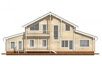 Фото #9: деревянный дом ПДБ-41 из клееного бруса купить за 12685000 (цена «Под ключ»)