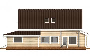 Фото #9: деревянный дом ПДБ-42 из клееного бруса купить за 17628000 (цена «Под ключ»)