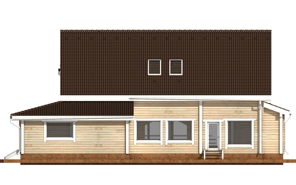 Фото #8: деревянный дом ПДБ-42 из клееного бруса купить за 17628000 (цена «Под ключ»)