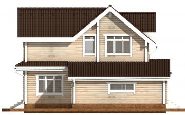Фото #10: деревянный дом ПДБ-43 из клееного бруса купить за 14446000 (цена «Под ключ»)