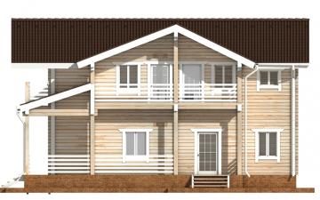 Фото #10: деревянный дом ПДБ-44 из клееного бруса купить за 14702000 (цена «Под ключ»)