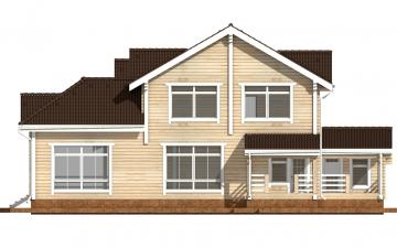 Фото #10: деревянный дом ПДБ-45 из клееного бруса купить за 18689000 (цена «Под ключ»)