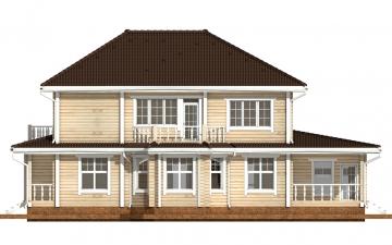 Фото #10: деревянный дом ПДБ-46 из клееного бруса купить за 17082000 (цена «Под ключ»)