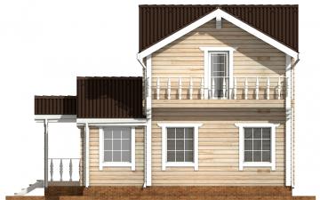 Фото #10: деревянный дом ПДБ-47 из клееного бруса купить за 6464000 (цена «Под ключ»)