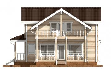 Фото #10: деревянный дом ПДБ-49 из клееного бруса купить за 9892000 (цена «Под ключ»)