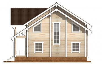 Фото #10: деревянный дом ПДБ-50 из клееного бруса купить за 14985000 (цена «Под ключ»)