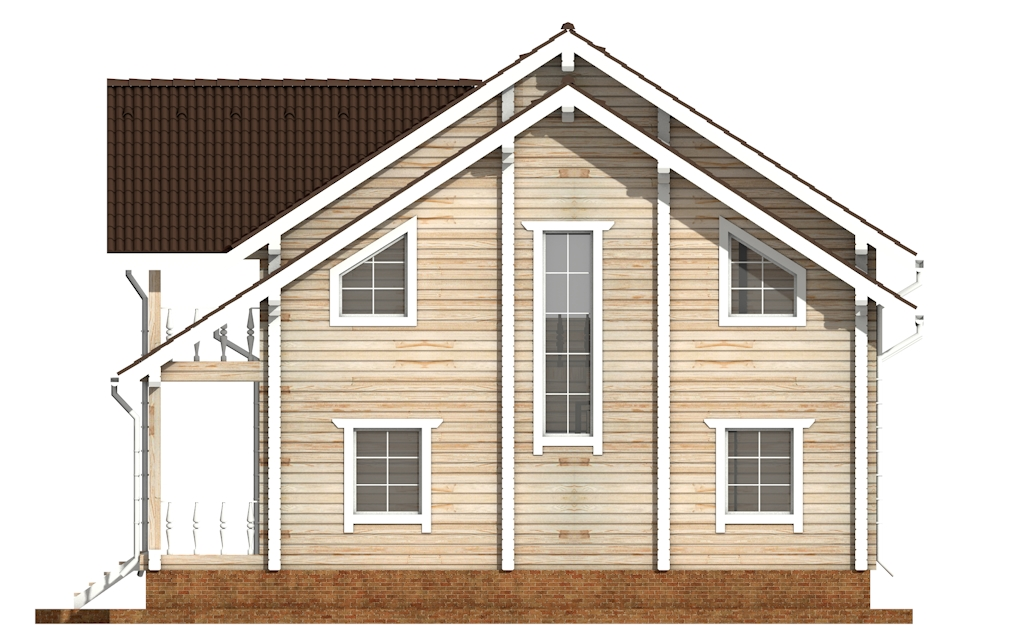 Фото #9: деревянный дом ПДБ-50 из клееного бруса купить за 14985000 (цена «Под ключ»)