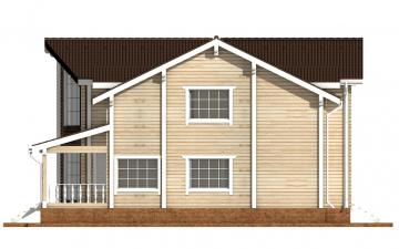 Фото #10: деревянный дом ПДБ-51 из клееного бруса купить за 15974000 (цена «Под ключ»)