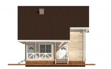 Фото #10: деревянный дом ПДБ-52 из клееного бруса купить за 12164000 (цена «Под ключ»)