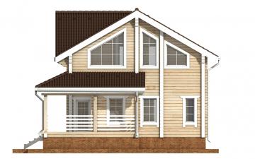 Фото #10: деревянный дом ПДБ-35 из клееного бруса купить за 8016000 (цена «Под ключ»)