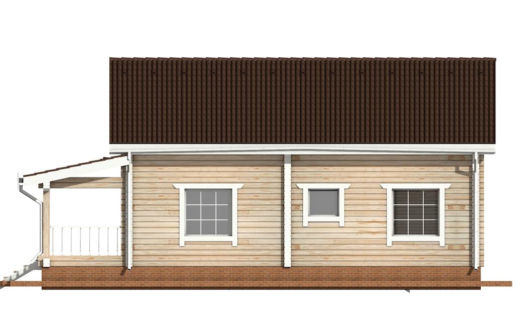 Фото #9: деревянный дом ПДБ-53 из клееного бруса купить за 4835000 (цена «Под ключ»)