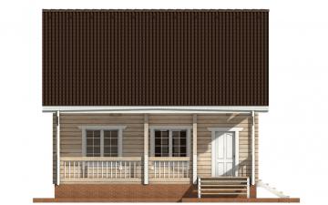 Фото #10: деревянный дом ПДБ-54 из клееного бруса купить за 6262000 (цена «Под ключ»)
