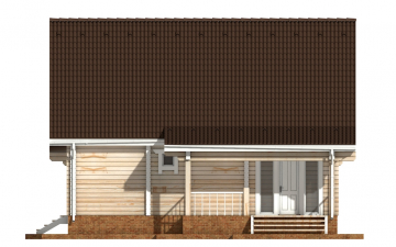 Фото #10: деревянный дом ПДБ-57 из клееного бруса купить за 7043000 (цена «Под ключ»)