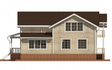 Фото #10: деревянный дом ПДБ-58 из клееного бруса купить за 10721000 (цена «Под ключ»)