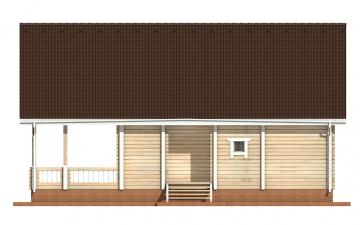Фото #10: деревянный дом ПДБ-59 из клееного бруса купить за 10102000 (цена «Под ключ»)