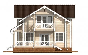 Фото #10: деревянный дом ПДБ-60 из клееного бруса купить за 10456000 (цена «Под ключ»)