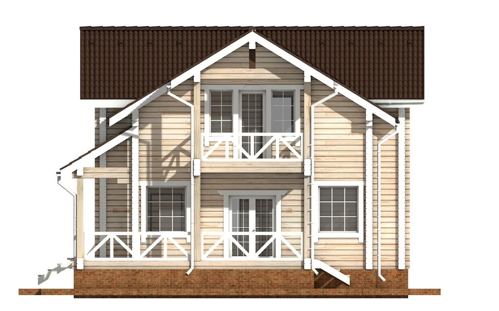 Фото #9: деревянный дом ПДБ-60 из клееного бруса купить за 10456000 (цена «Под ключ»)
