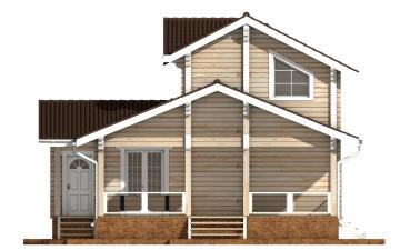Фото #10: деревянный дом ПДБ-61 из клееного бруса купить за 10276000 (цена «Под ключ»)