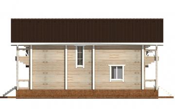 Фото #10: деревянный дом ПДБ-62 из клееного бруса купить за 10084000 (цена «Под ключ»)