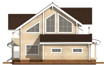 Фото #10: деревянный дом ПДБ-36 из клееного бруса купить за 14352000 (цена «Под ключ»)