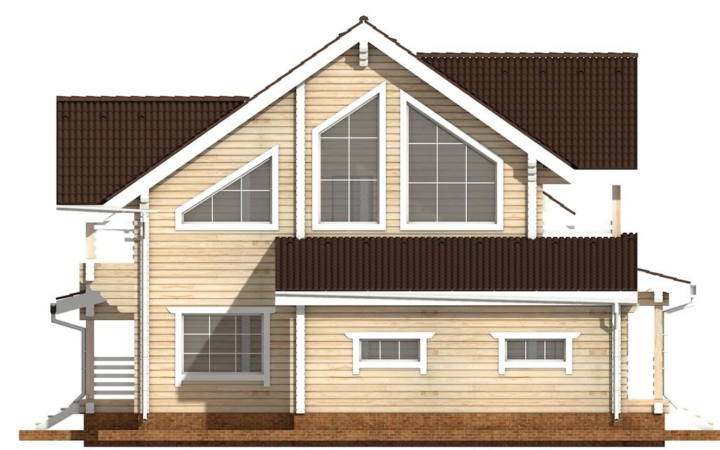 Фото #9: деревянный дом ПДБ-36 из клееного бруса купить за 14352000 (цена «Под ключ»)