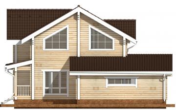 Фото #10: деревянный дом ПДБ-37 из клееного бруса купить за 14135000 (цена «Под ключ»)