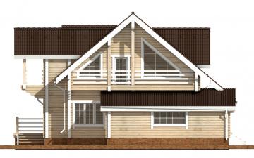 Фото #10: деревянный дом ПДБ-38 из клееного бруса купить за 15922000 (цена «Под ключ»)