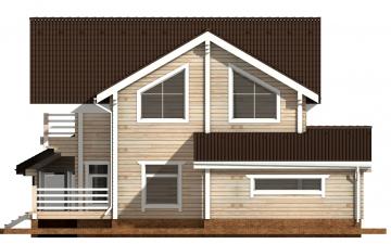 Фото #10: деревянный дом ПДБ-39 из клееного бруса купить за 15784000 (цена «Под ключ»)