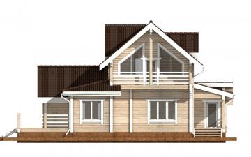 Фото #10: деревянный дом ПДБ-40 из клееного бруса купить за 13232000 (цена «Под ключ»)