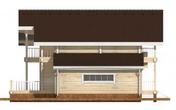 Фото #10: деревянный дом ПДБ-41 из клееного бруса купить за 12685000 (цена «Под ключ»)
