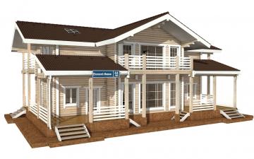 Фото #1: деревянный дом ПДБ-44 из клееного бруса купить за 14702000 (цена «Под ключ»)