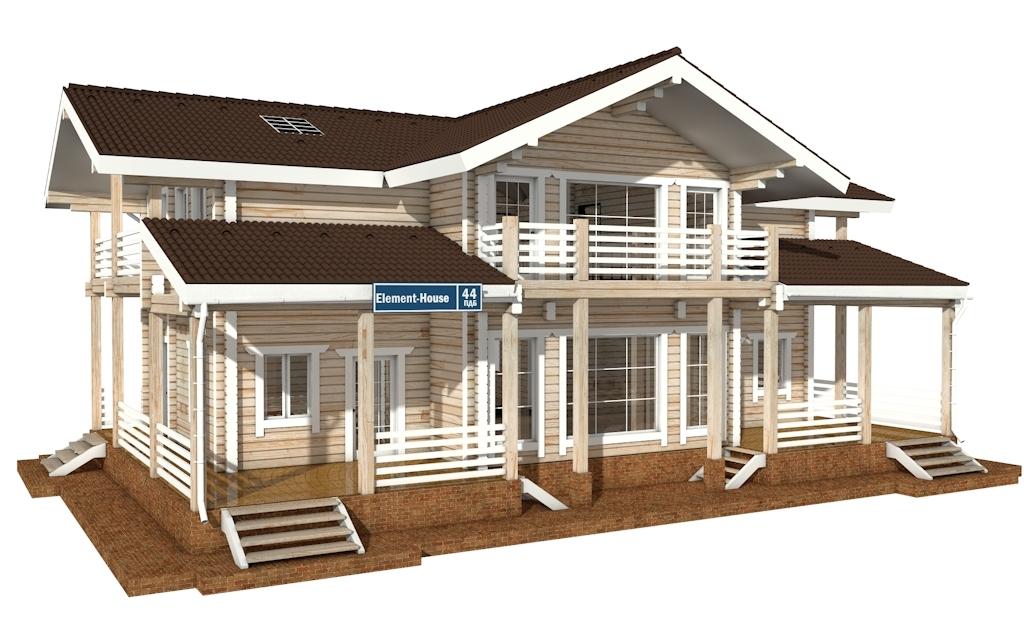ПДБ-44 - деревянный дом из клееного бруса