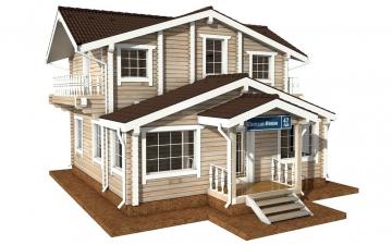 Фото #1: деревянный дом ПДБ-47 из клееного бруса купить за 6464000 (цена «Под ключ»)