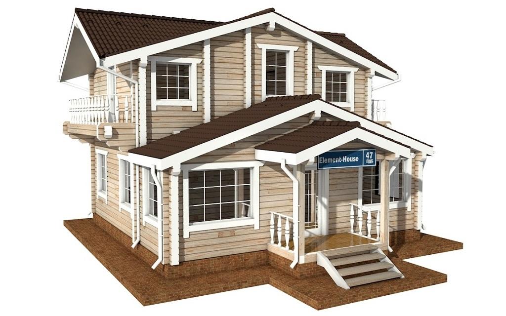 ПДБ-47 - деревянный дом из клееного бруса