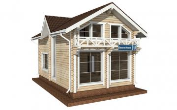 Фото #1: деревянный дом ПДБ-48 из клееного бруса купить за 4465000 (цена «Под ключ»)