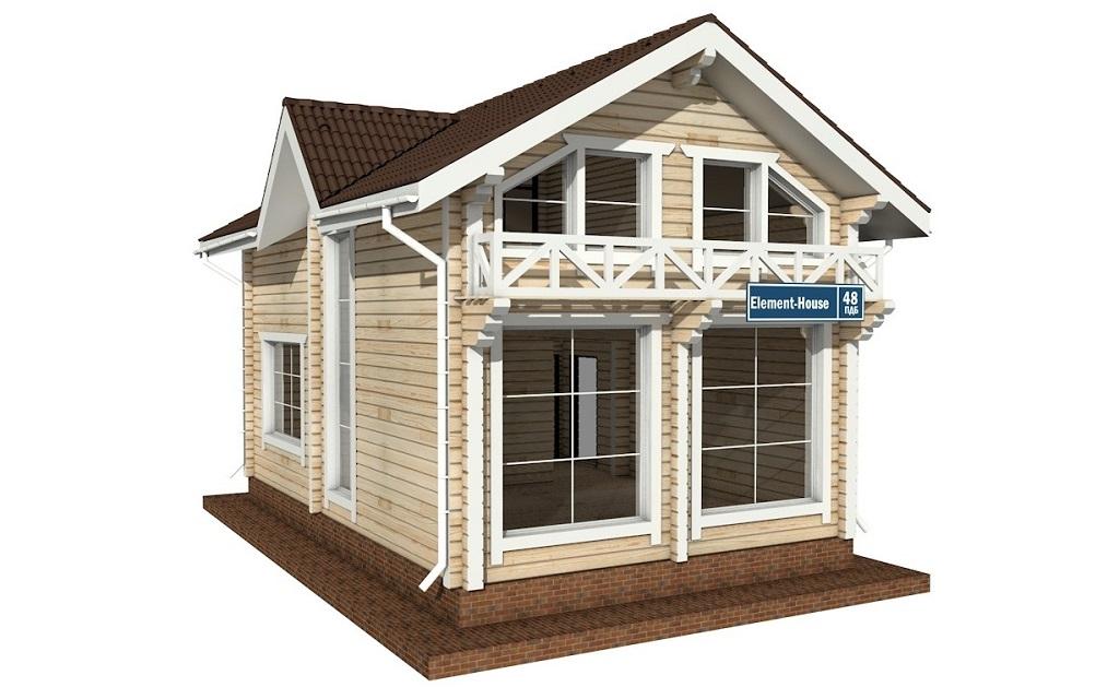 ПДБ-48 - деревянный дом из клееного бруса