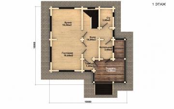Фото #4: деревянный дом ПДБ-35 из клееного бруса купить за 8016000 (цена «Под ключ»)