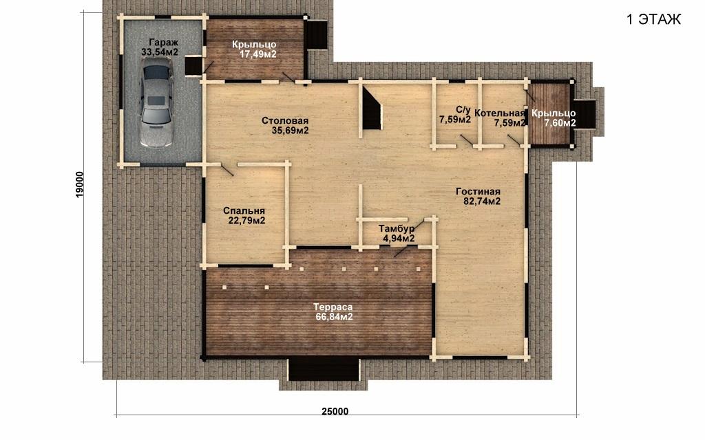 Фото #4: деревянный дом ПДБ-45 из клееного бруса купить за 18689000 (цена «Под ключ»)