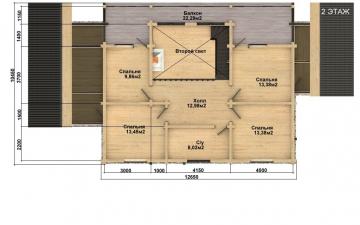 Фото #5: деревянный дом ПДБ-52 из клееного бруса купить за 12164000 (цена «Под ключ»)