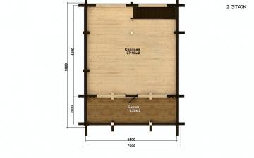 Фото #5: деревянный дом ПДБ-56 из клееного бруса купить за 4483000 (цена «Под ключ»)