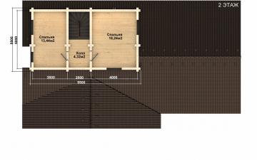 Фото #5: деревянный дом ПДБ-61 из клееного бруса купить за 10276000 (цена «Под ключ»)