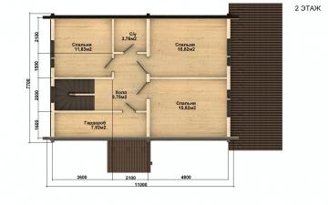 Фото #5: деревянный дом ПДБ-53 из клееного бруса купить за 4835000 (цена «Под ключ»)