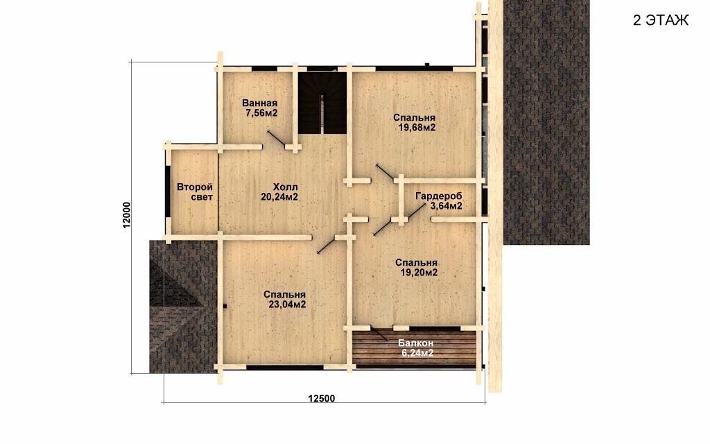 Фото #5: деревянный дом ПДБ-34 из клееного бруса купить за 13915000 (цена «Под ключ»)